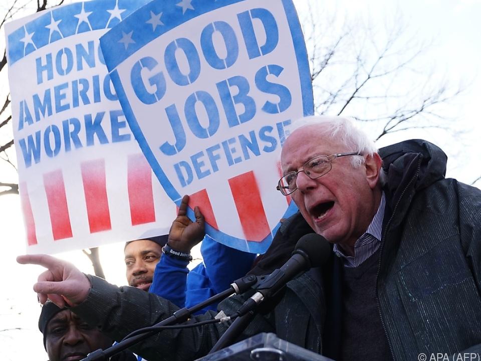 Sanders will seinen \