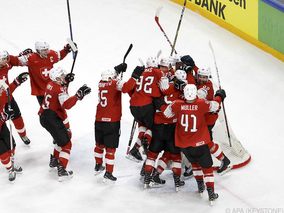 Schweizer im Freudenrausch nach Halbfinalsieg gegen Kanada
