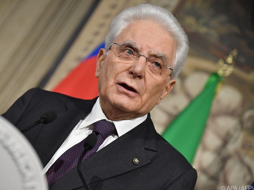 Sergio Mattarella: Neutrale Regierung soll Italien in Neuwahl führen