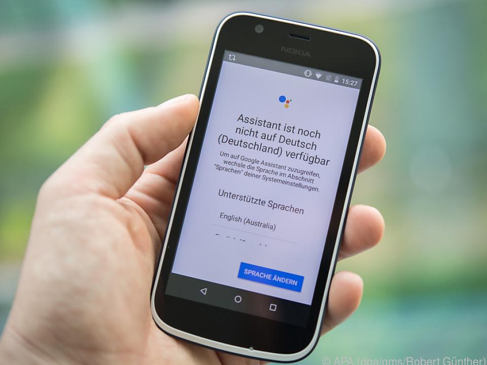 Der Google Assistant in Android Go kann (noch) kein Deutsch