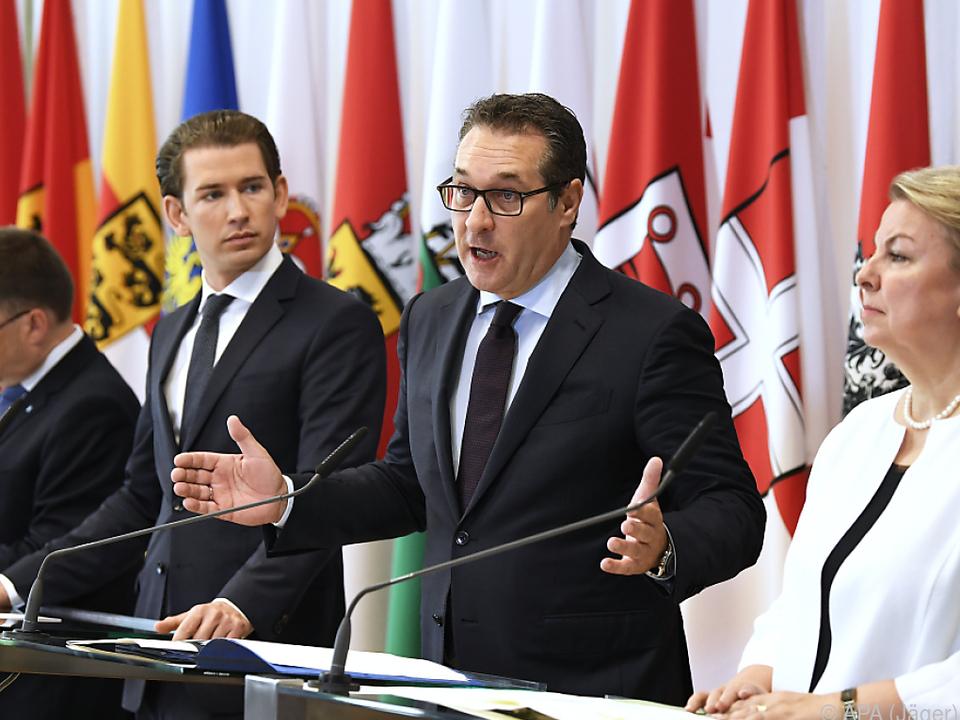 Strache präsentierte den Entwurf vor der Presse
