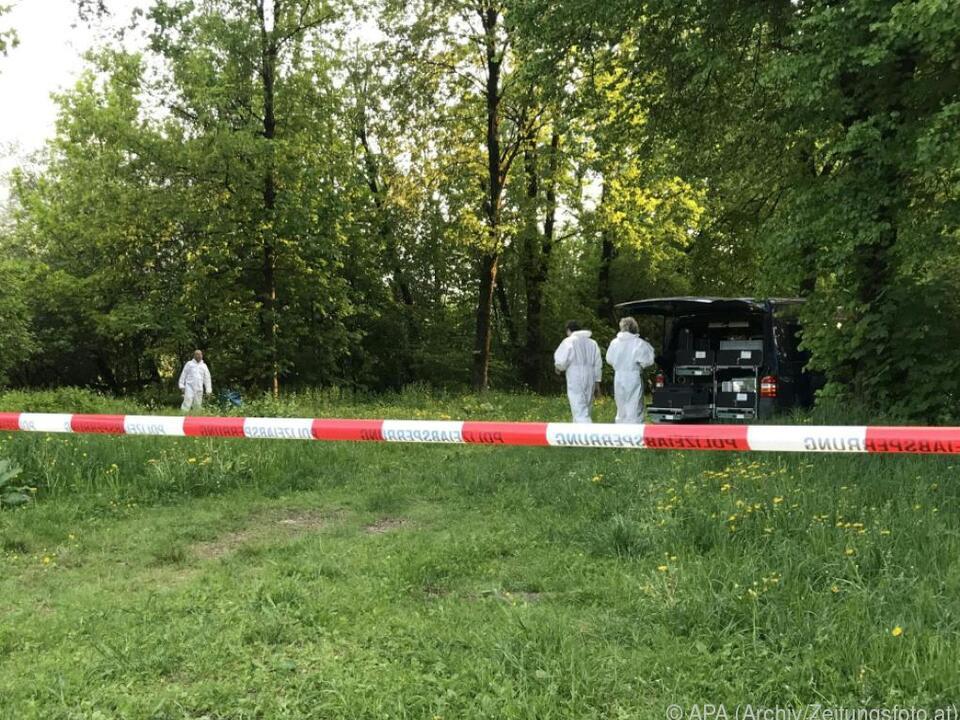 Szene vom Tatort nach dem Leichenfund Ende April