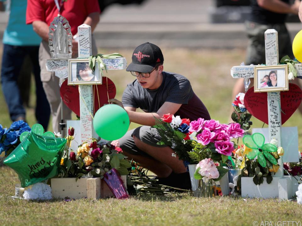 Trauer um die zehn Opfer der Schießerei