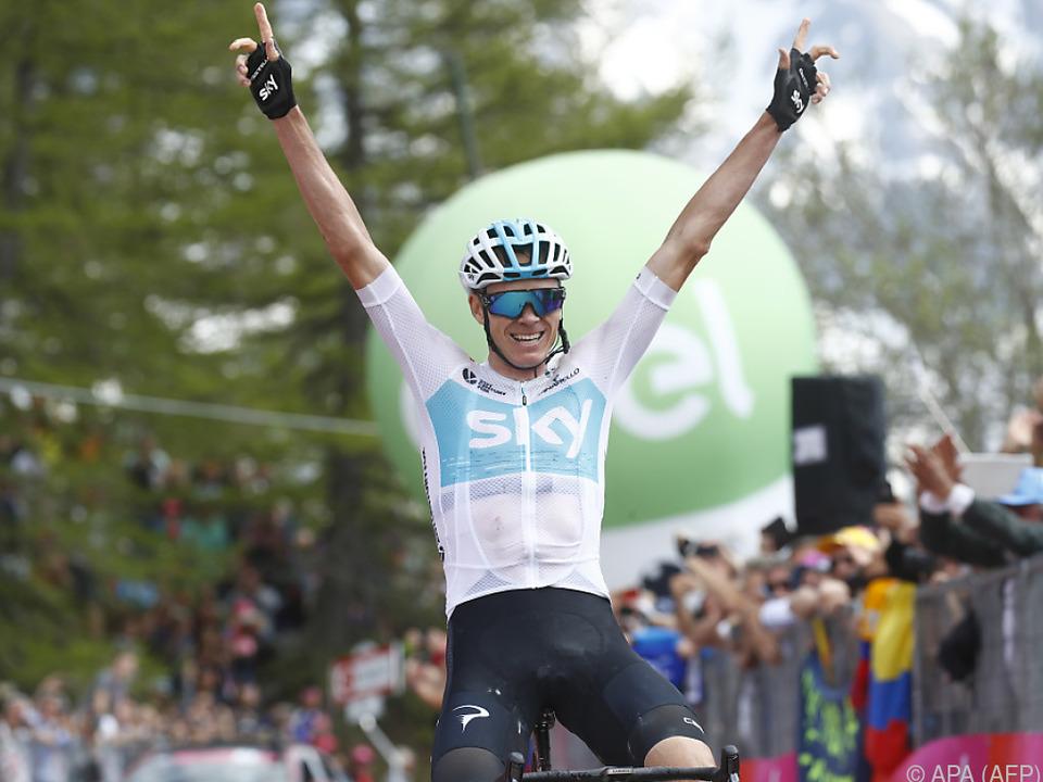 Triumphaler Sieg für Christopher Froome auf der 19. Giro-Etappe
