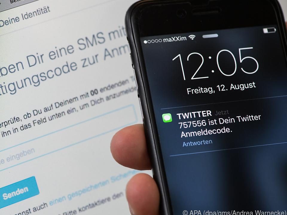 Twitter bietet ein sicheres Log-in mit einem sechsstelligen SMS-Code