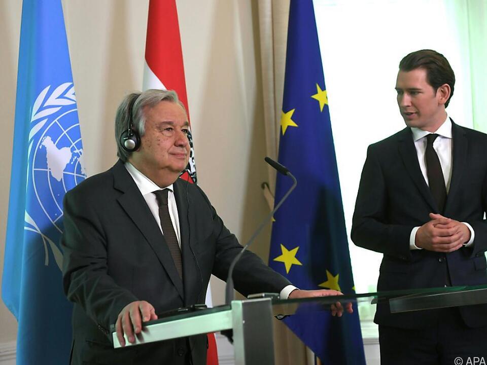 UNO-Generalsekretär Guterres auf Besuch in Österreich