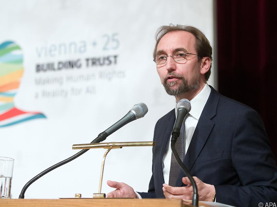 UNO-Menschenrechtskommissar Zeid Raad al-Hussein in Wien