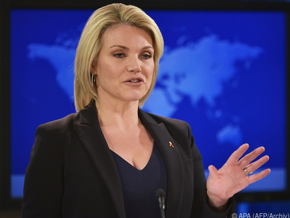 US-Außenministeriumssprecherin Heather Nauert erläuterte US-Pläne