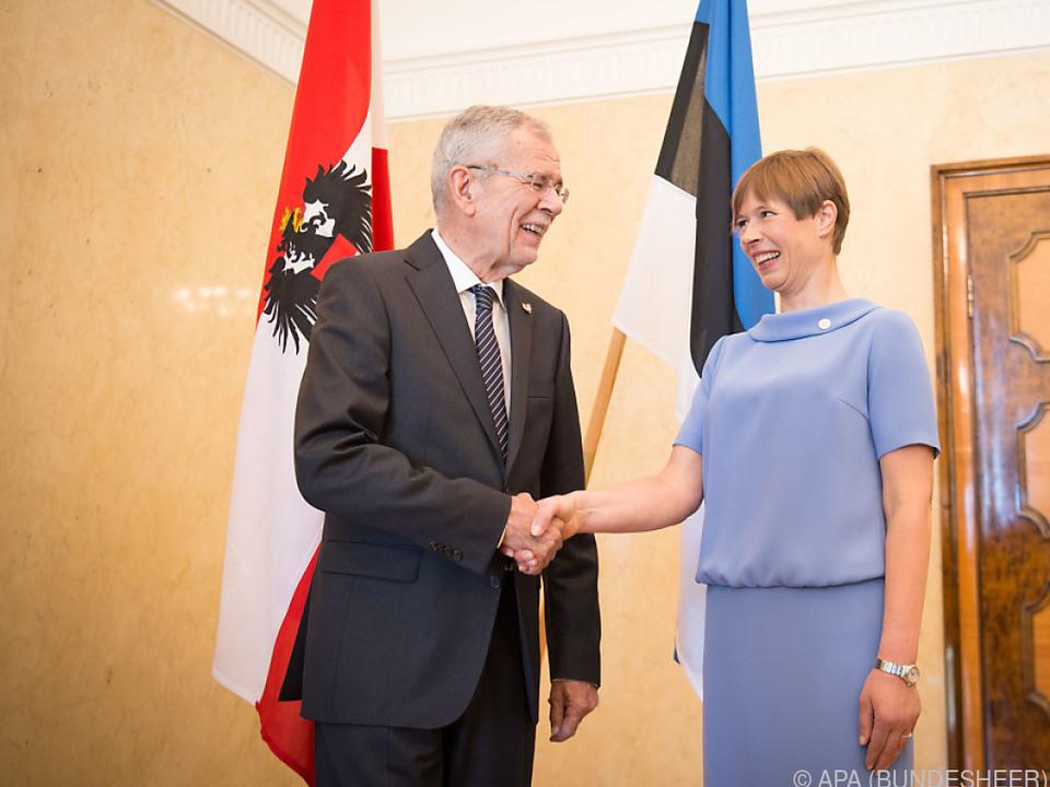 Van der Bellen und Amtskollegin Kaljulaid