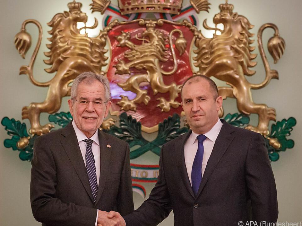 Van der Bellen zu Besuch beim bulgarischen Amtskollegen Rumen Radew