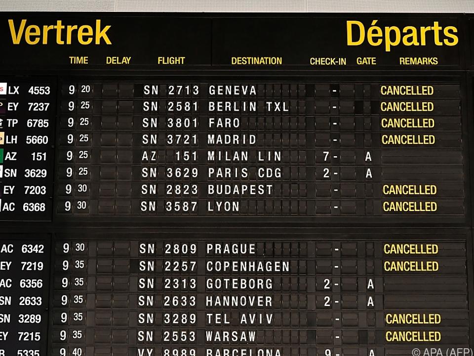 Zahlreiche Flugausfälle in Brüssel