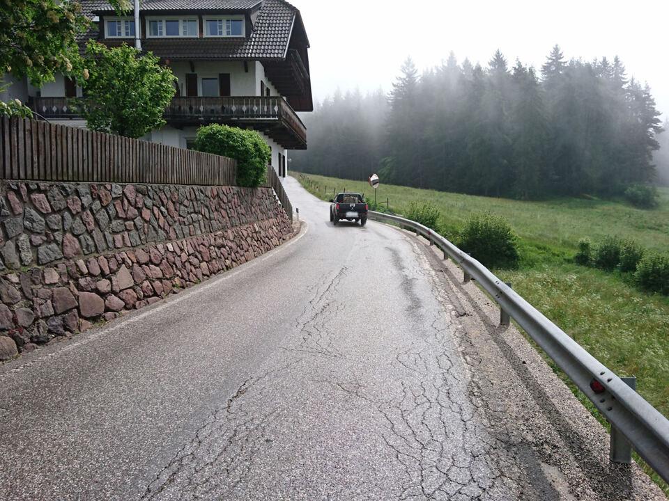 Engstelle Straße Oberinn