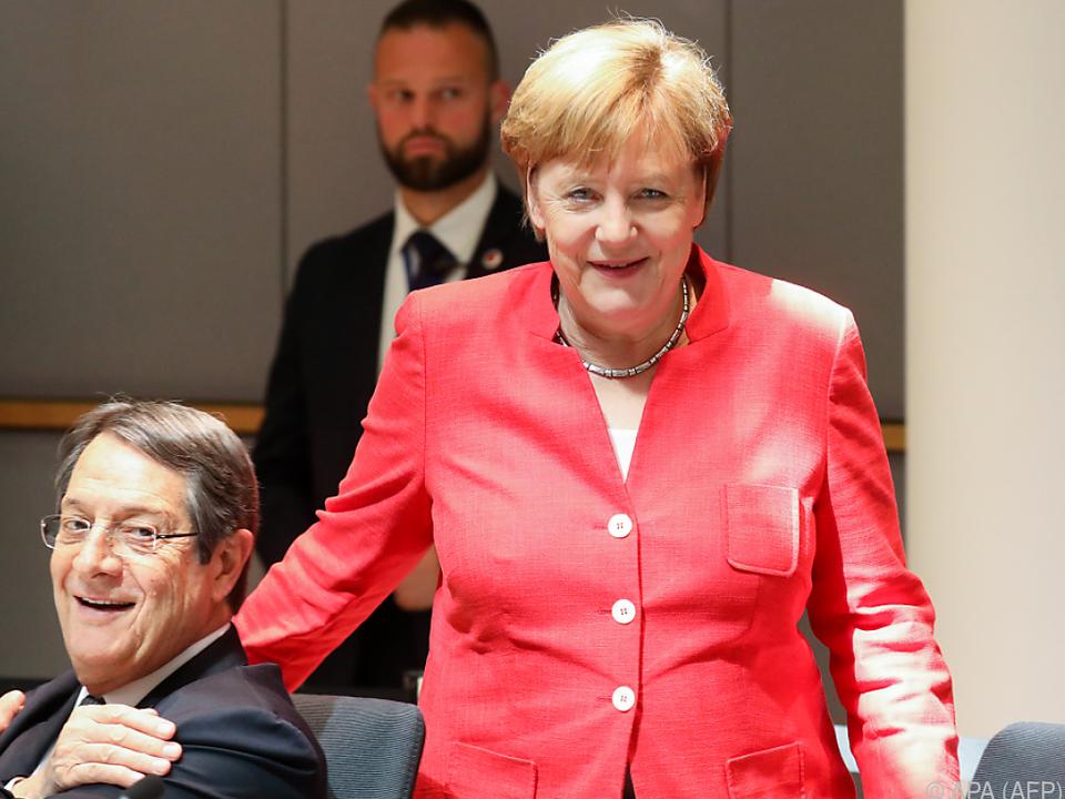 Angela Merkel sieht sich am EU-Gipfel gestärkt