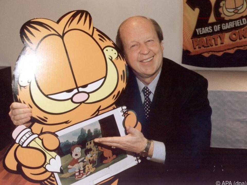 Anti-Held Garfield mit seinem Schöpfer Jim Davis