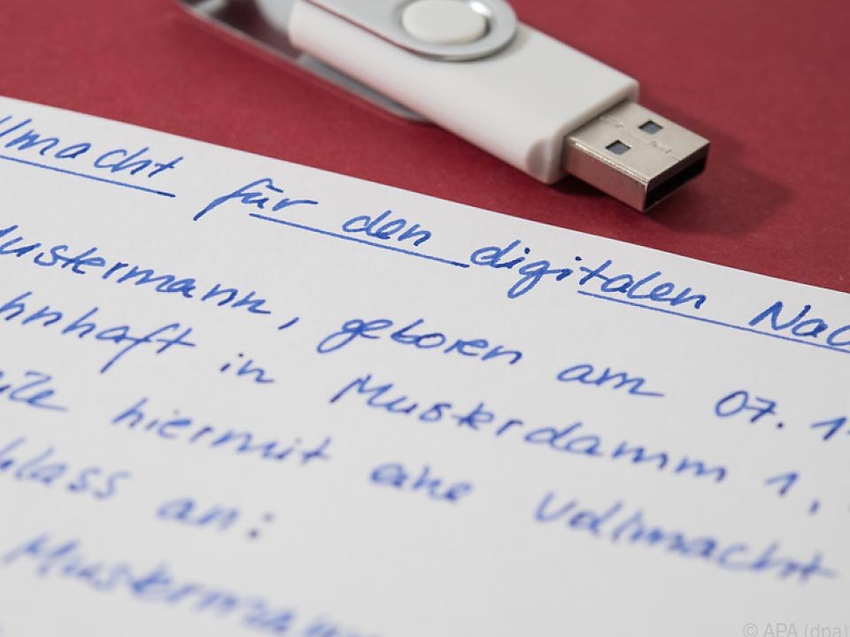 Die Vollmacht für den digitalen Nachlass muss handgeschrieben sein