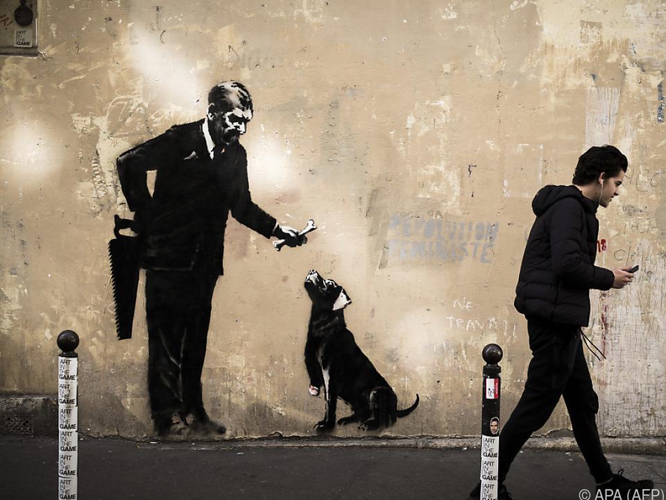 Banksy bekannte sich u.a. zu Mann mit Hund