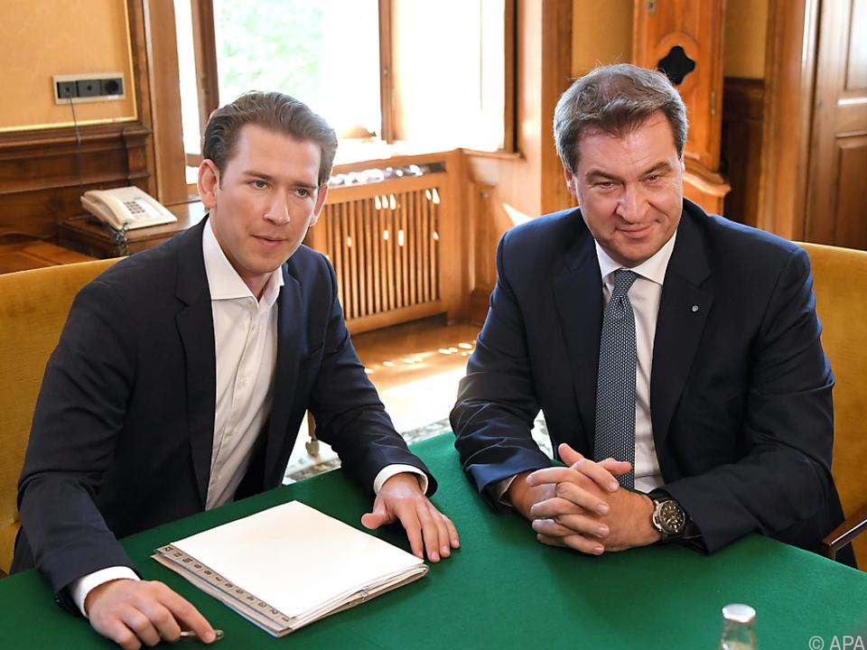 Bayerns Regierung sieht Kurz als Verbündeten