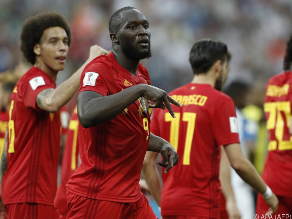 Belgiens Starstürmer Romelu Lukaku traf zweimal