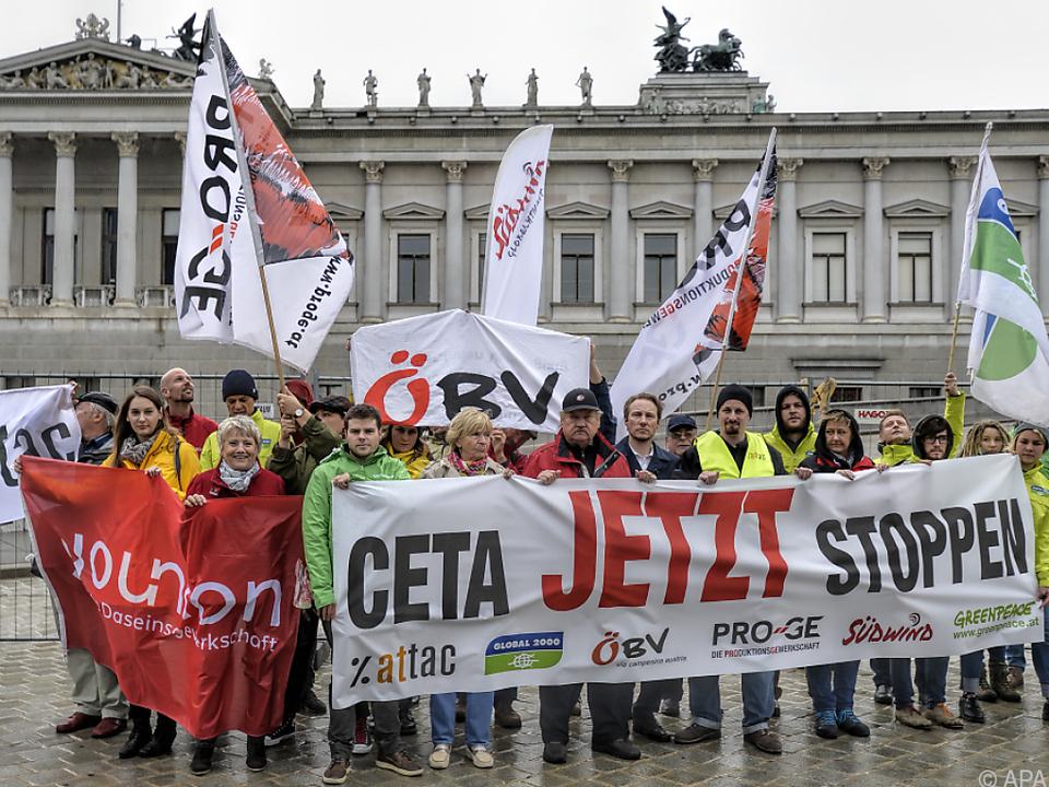 Bereits in der Vergangenheit war es zu Protesten gegen CETA gekommen