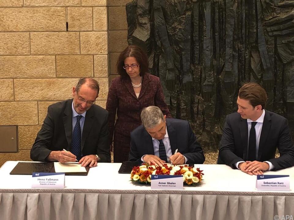 Bildungsminister Faßmann (li.) begleitete Kurz nach Israel