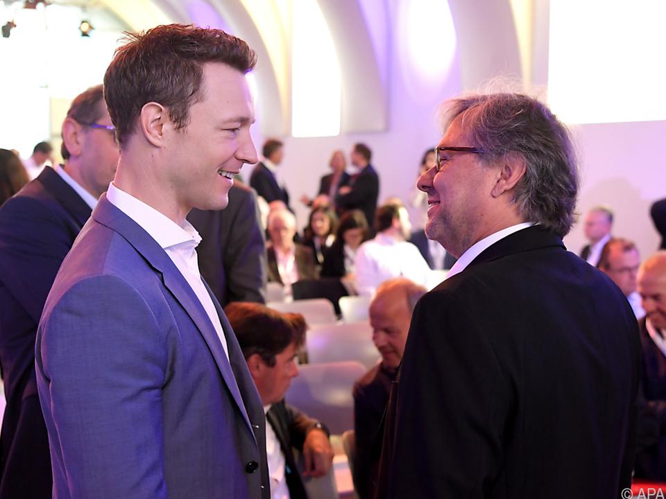 Blümel mit ORF-Generaldirektor Wrabetz