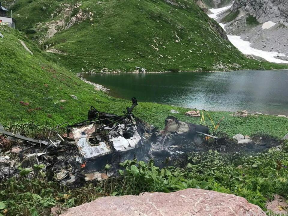 Bundenheer-Hubschrauber brannte vollständig aus