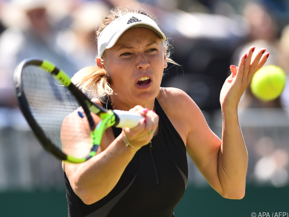 Caroline Wozniacki setzte sich gegen Aryna Sabalenka durch