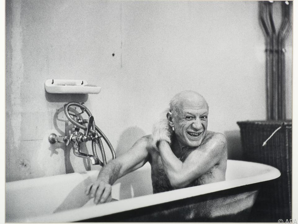 David Douglas Duncan fotografierte Picasso in der Badewanne
