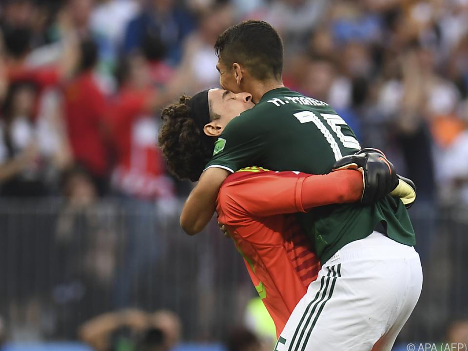 Die Freude der Mexikaner kannte keine Grenzen