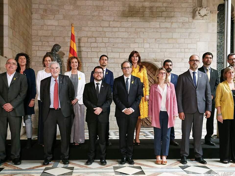 Die katalanische Regionalregierung ist seit Samstag im Amt