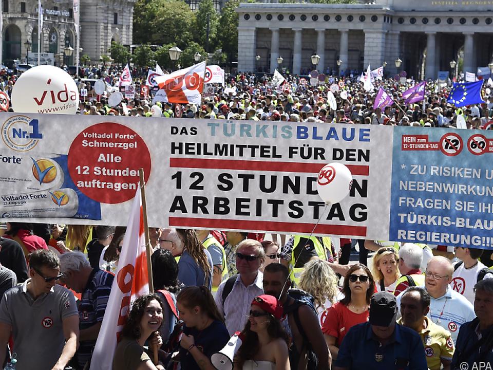 Die ÖGB-Demo hatte tausende Teilnehmer