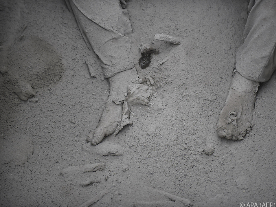 Die Opfer wurden von Lava und Asche begraben