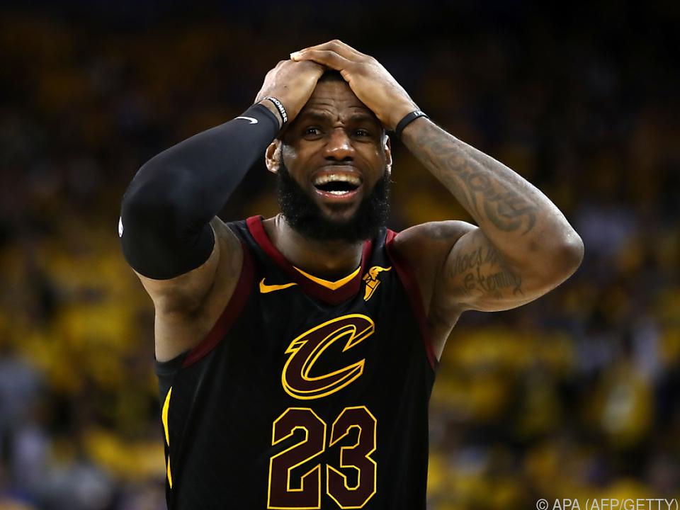 Die Topleistung von LeBron James blieb unbelohnt