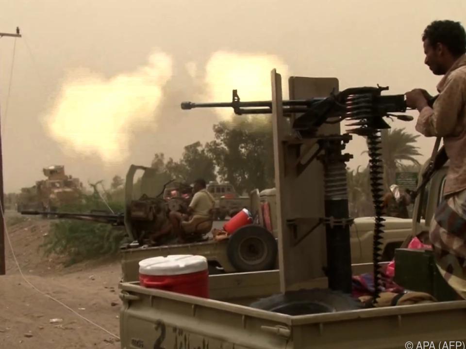 Die Truppen in der Nähe der Stadt Hodeidah