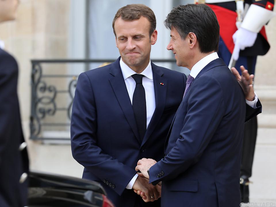 Die Wogen zwischen Frankreich und Italien scheinen etwas geglättet