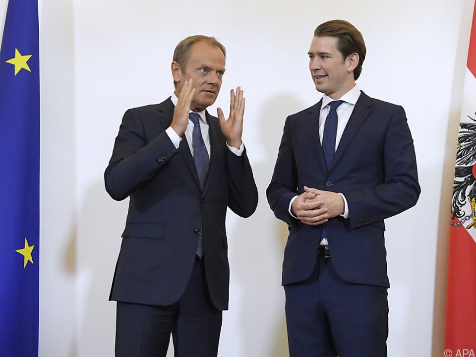 EU-Ratspräsident Tusk zu Besuch in Wien
