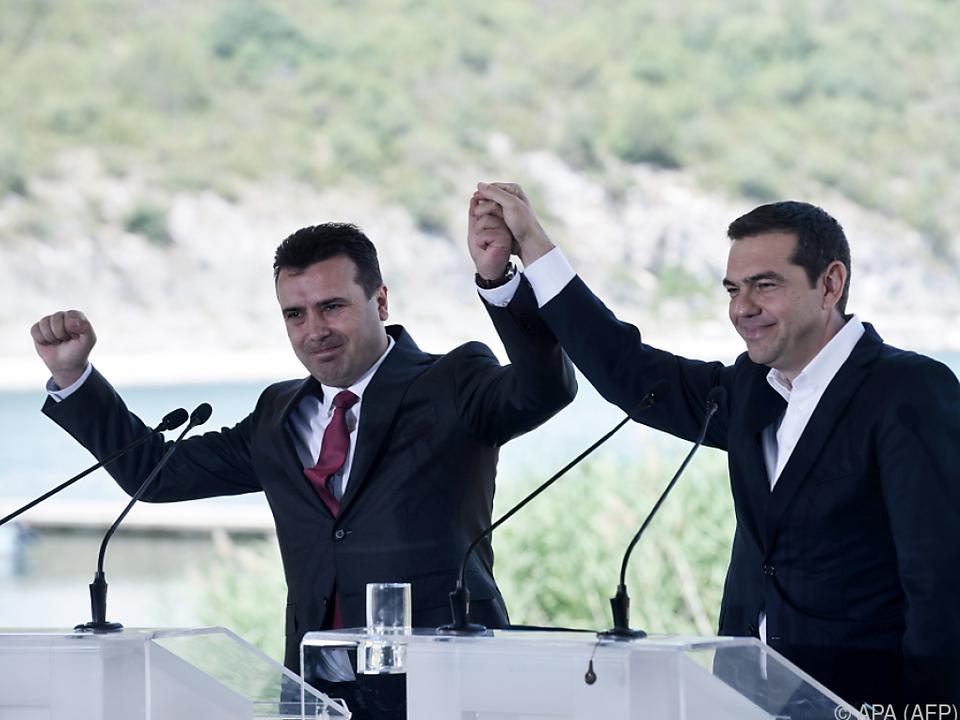 Feierstimmung bei den beiden Regierungschefs