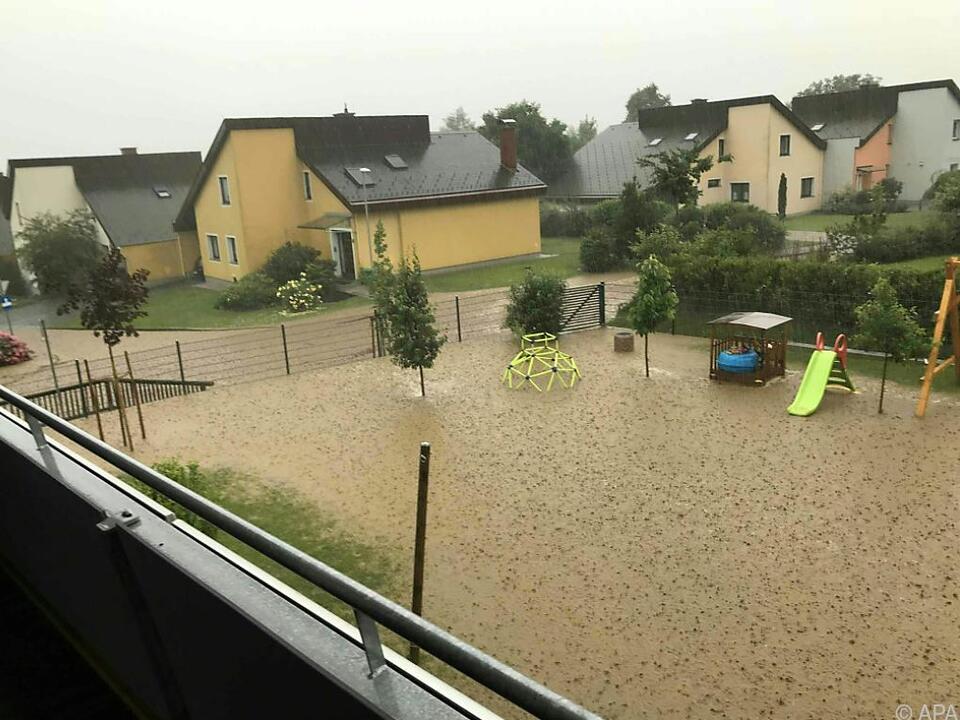 Gärten in der Steiermark sahen nach Unwettern aus wie Teiche