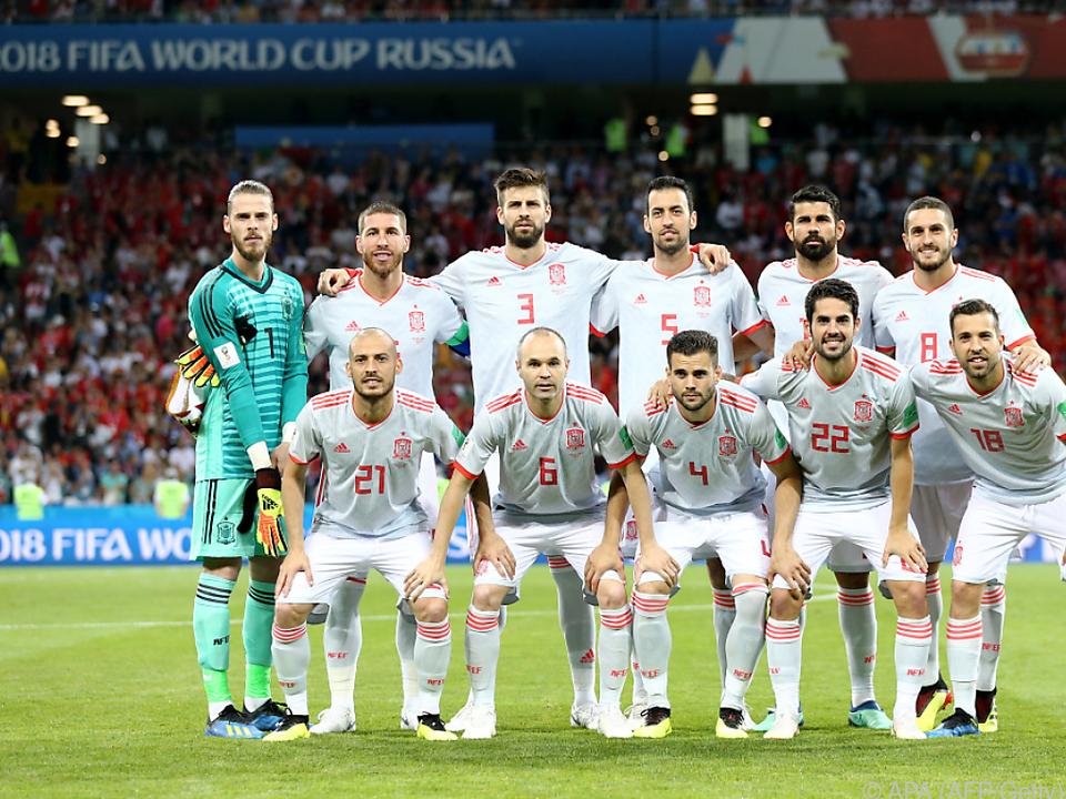 Gegen den Iran wollen die Spanier drei Punkte einfahren