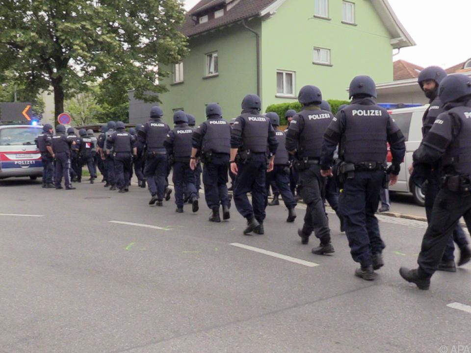Großeinsatz der Polizei in Bregenz ist beendet