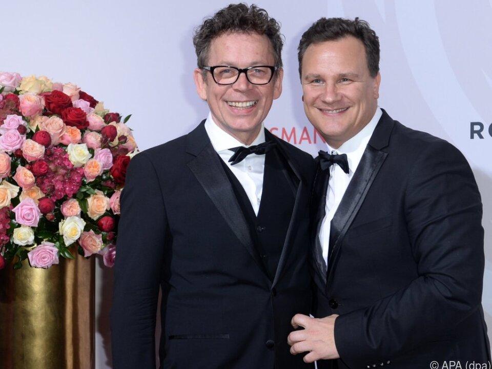 Guido Maria Kretschmer (R) heiratet Frank Mutters auf Sylt