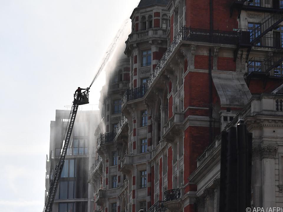 Hotel im Zentrum Londons betroffen