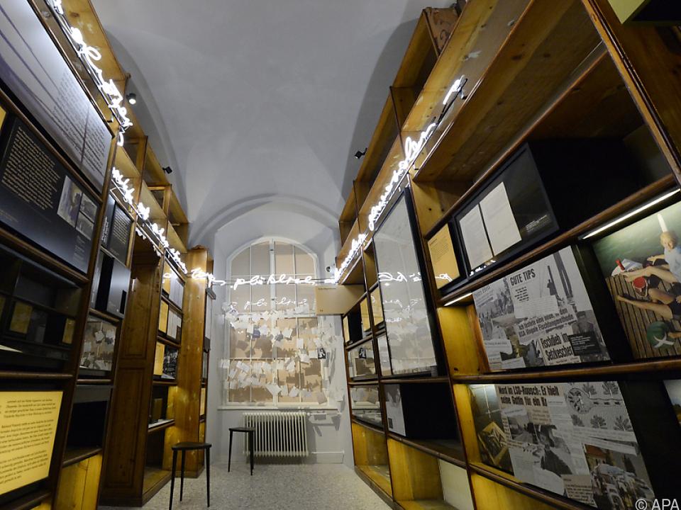 Im Literaturmuseum sind Teile des Bachmann-Nachlasses zu sehen