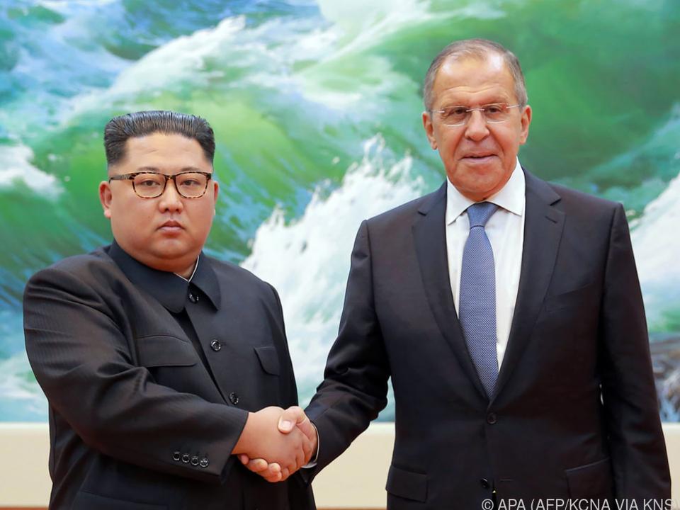Kim traf russischen Außenminister Lawrow