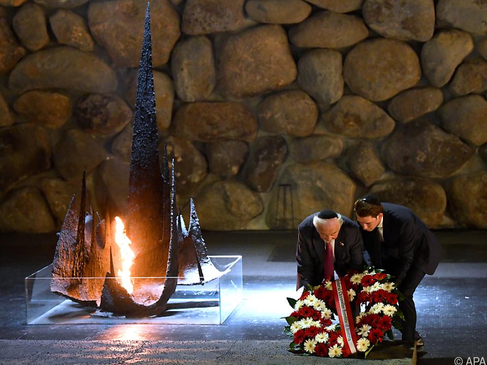 Kranzniederlegung in der Holocaust-Gedenkstätte Yad Vashem
