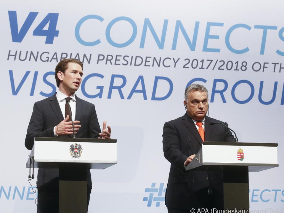 Kurz beim Treffen der Visegrad-Gruppe in Budapest