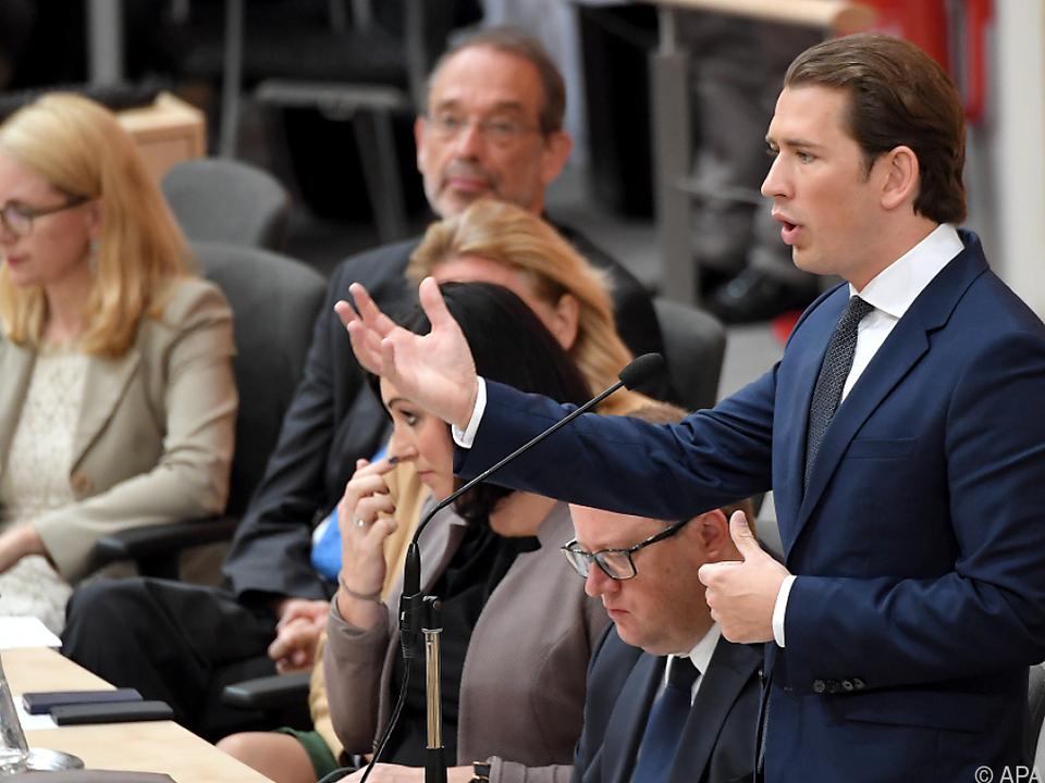 Kurz hat konkrete Pläne für den EU-Ratsvorsitz
