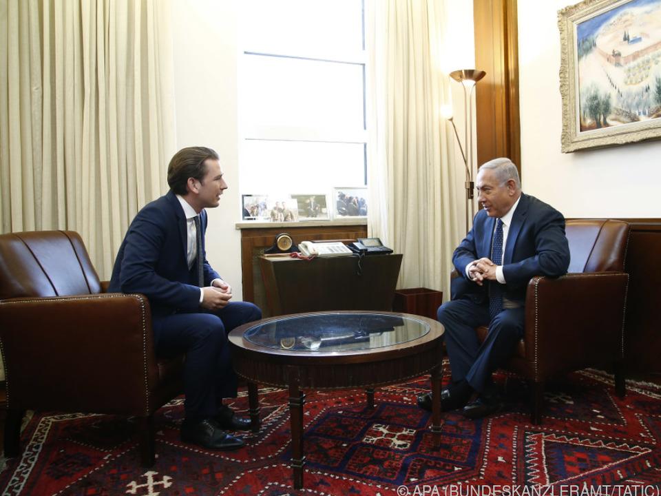 Kurz und Netanyahu verstehen sich gut