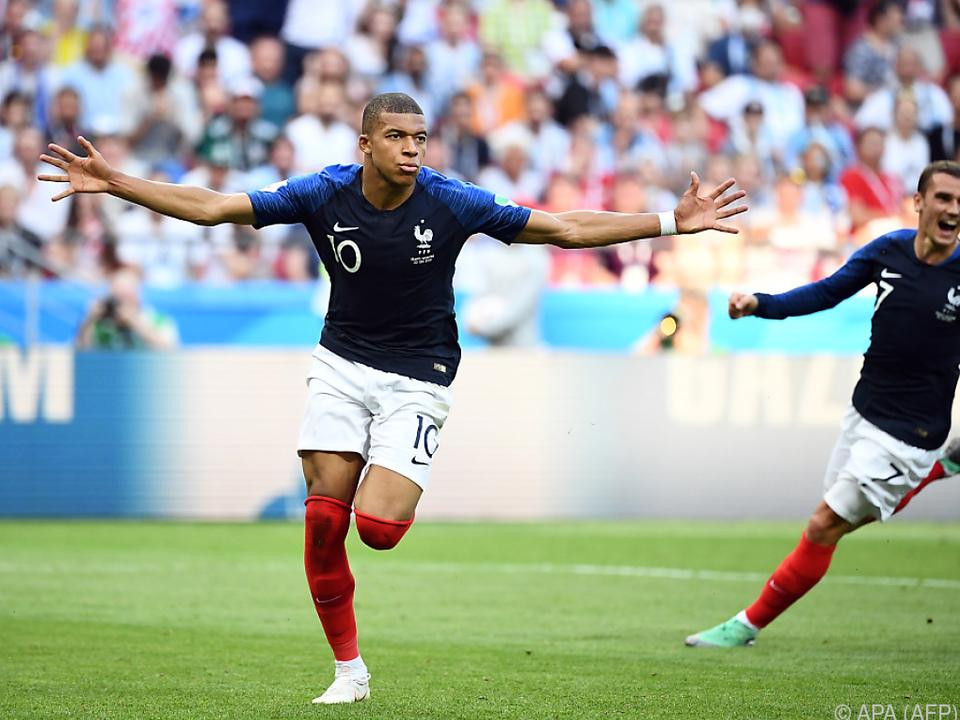 Kylian Mbappe traf zweimal für die Franzosen