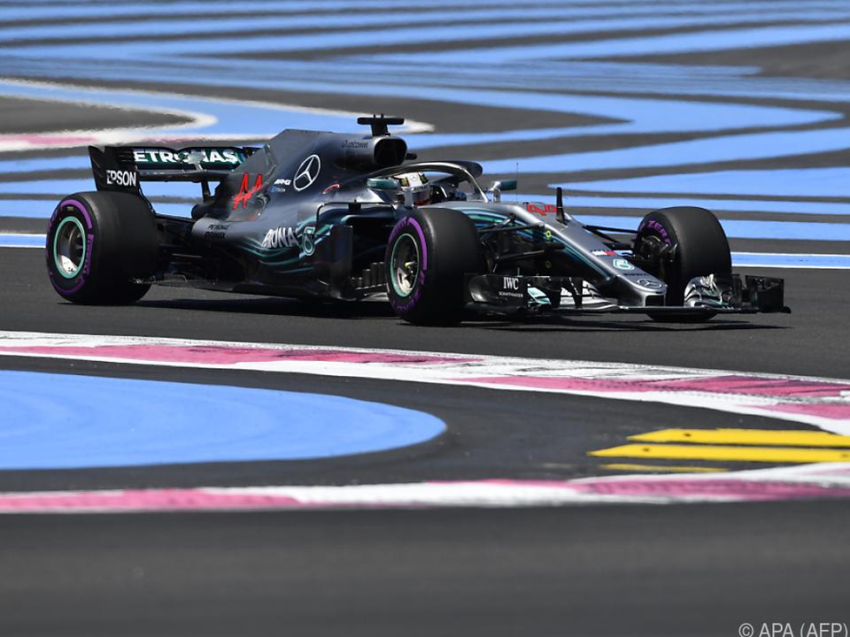 Lewis Hamilton im Mercedes